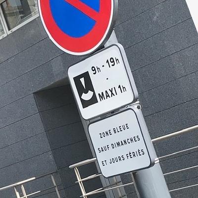 Stationnement gratuit zone bleue
