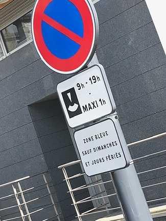 Stationnement gratuit zone bleue 0